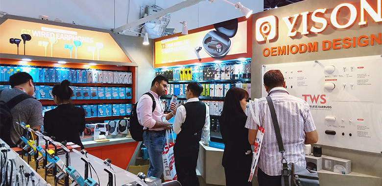 Feel the hot scene of YISON at Global Sources Electronics Show